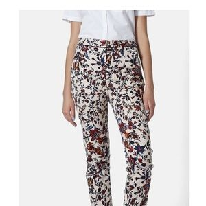 TopShop Floral Cigarette Skinny Trouser Pants Sz 6
